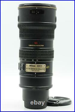 Nikon Nikkor AF-S 70-200mm f2.8 G ED VR IF Lens AFS #603