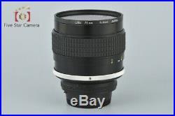Very Good! Nikon Ai-S NIKKOR 85mm f/1.4